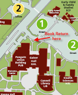 Map of book return location