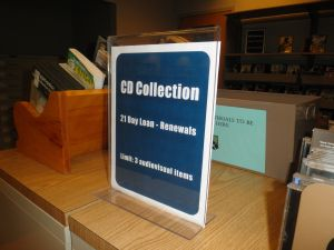 CD Collection sign