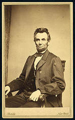 President Lincoln, seated