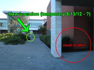 Temporary Return Box Location