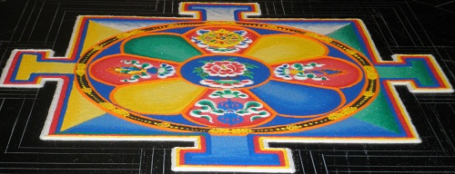 Photo of Sand Mandala, end of day 1