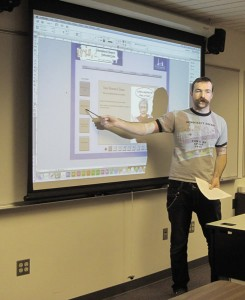 Student presents final IRIS solution