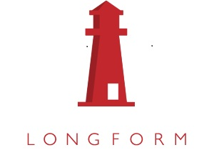 Image of Longflorm Logo, a red lighthouse