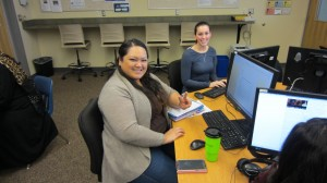 Students working in iCommons