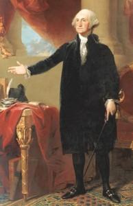 oil painting of George Washington