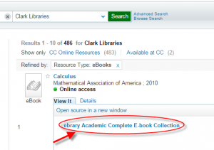 ebrary Acacemic Complete E-book Collection  link