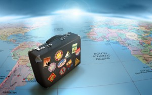 """Globe-Map-Suitcase-Travel"" by Wilerson S Andrade is licensed under CC BY 4.0"
