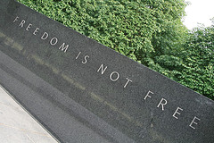 Freedom is not free Korean War memorial