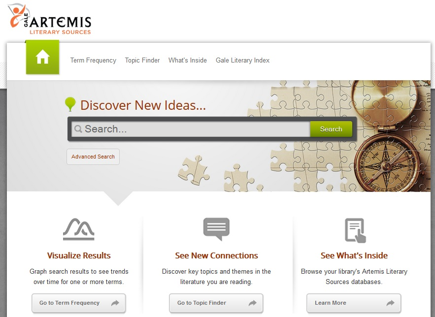 Artemis Literary Sources Search Box
