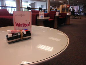 New paper tables in Cannell Library! Photo by Tammy Boyer