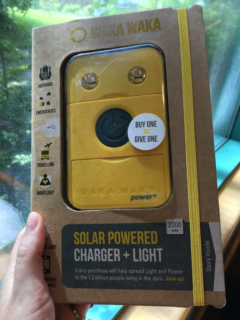 Solar Powered Charger + Light