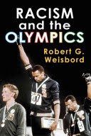 "Cover of ""Racism and the Olympics"" book with two Black athletes raising their fists"
