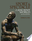 "Cover of ""Sport and Spectacle in the Ancient World"" book with sculpture of seated man"